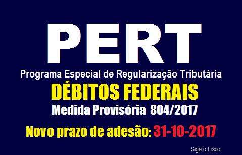 PERT – Receita Federal publica Nota sobre o novo prazo de adesão ao programa 2