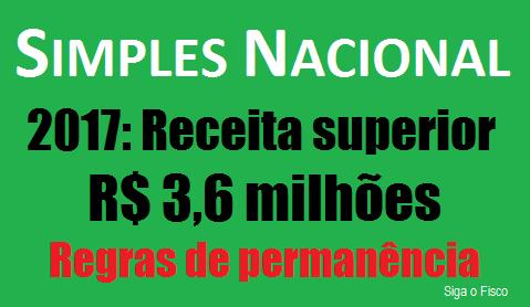 Simples Nacional: O que fazer se a receita em 2017 superar R$ 3,6 milhões? 2