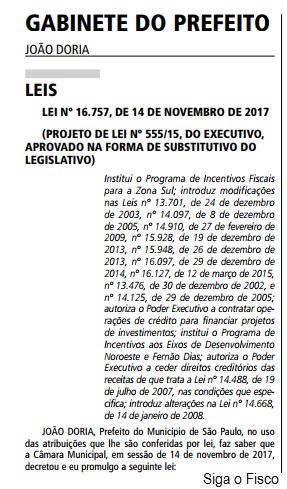 Prefeitura de São Paulo altera Lei do ISS 4