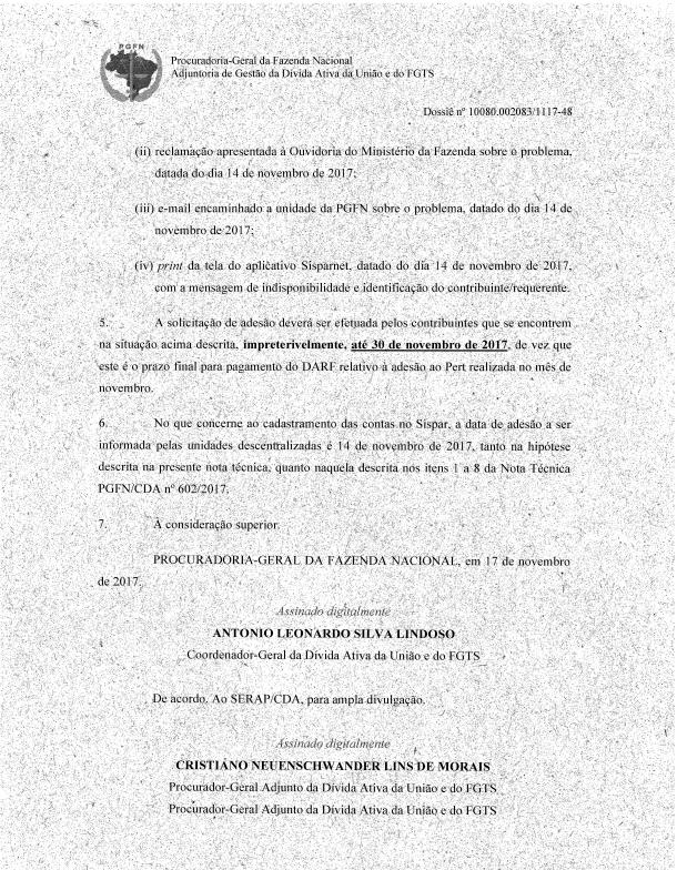 PERT – PGFN permite adesão ao programa até 30 de novembro 6