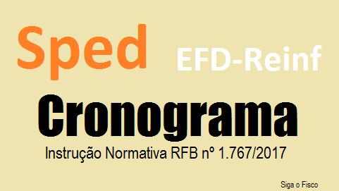 EFD-Reinf – Receita Federal divulga novo cronograma de implantação 2