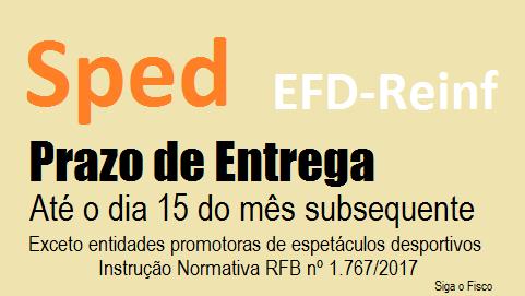 EFD-Reinf: Receita antecipa para dia 15 o prazo de entrega 3