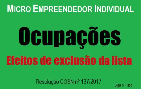 MEI 2018: Efeitos da exclusão de ocupações da lista 2