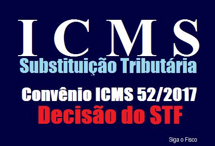 ICMS-ST – Decisão do STF suspende cláusulas do Convênio ICMS 52/2017 2
