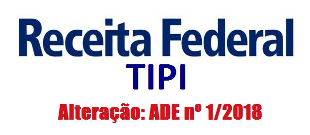Receita Federal altera TIPI 3