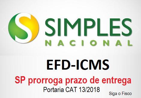 ICMS/SP – Simples Nacional: prazo de entrega da EFD-ICMS é prorrogado 2
