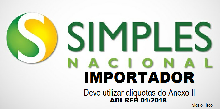 Simples Nacional: Importador deve utilizar alíquotas do Anexo II 2