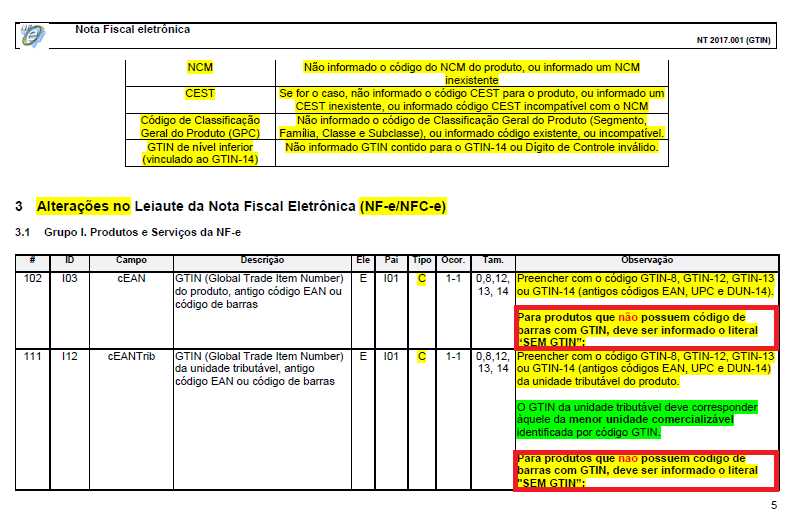 NF-e: Exigência do Código de Barras e validação do campo 4