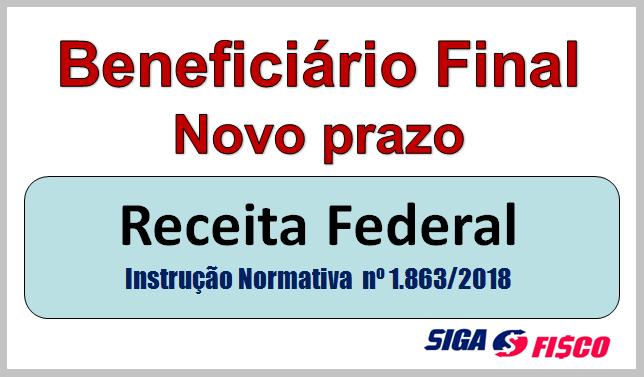 Receita Federal fixa novas regras e prazos sobre o CNPJ e Beneficiário final 2