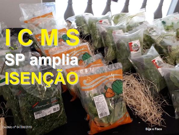 ICMS – SP amplia isenção do imposto para frutas e hortaliças embaladas 2
