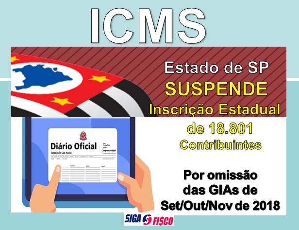 SP suspende Inscrição Estadual de contribuintes omissos de GIA 1