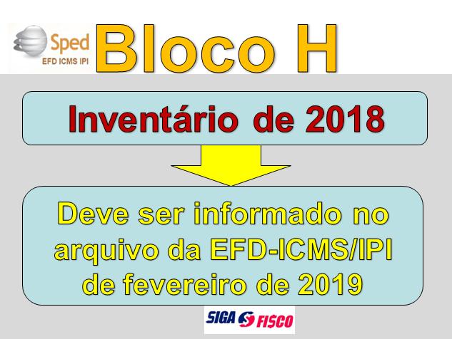 Inventário de dezembro deve ser informado na EFD-ICMS/IPI de fevereiro 1