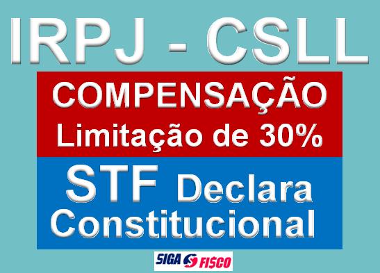 IRPJ - CSLL - Limitação de Compensação de 30% é Constitucional 4
