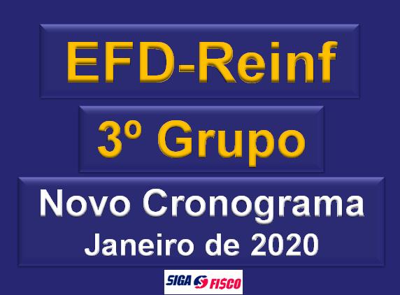 EFD-Reinf para 3º Grupo é adiada para janeiro de 2020 2