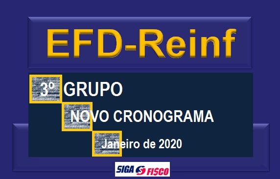EFD-Reinf: Obrigatoriedade para o 3º Grupo é adiada 1