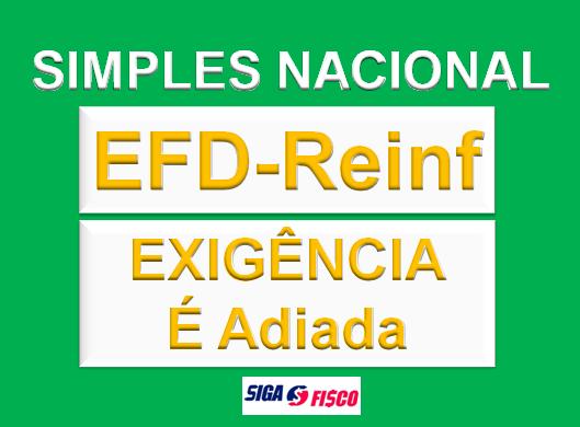 EFD-Reinf: Exigência do Simples Nacional é adiada 1