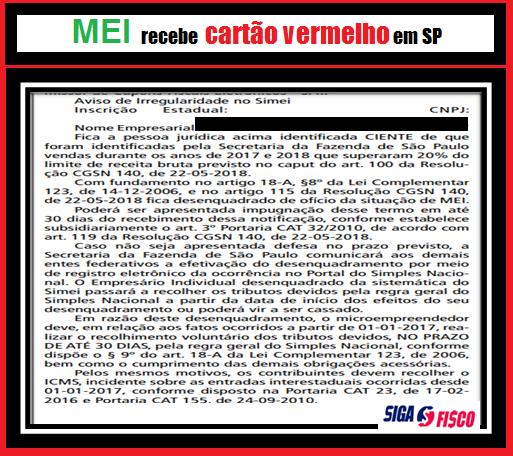 MEI sofre expulsão do regime em SP 2