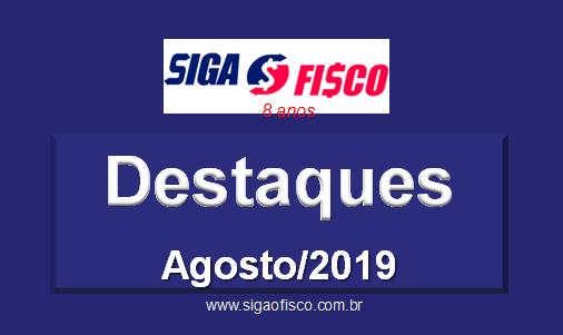 Siga o Fisco: Destaques de Agosto de 2019 1