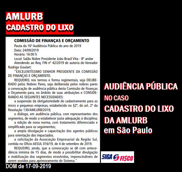 Cadastro do Lixo em São Paulo será Pauta de Audiência Pública 4