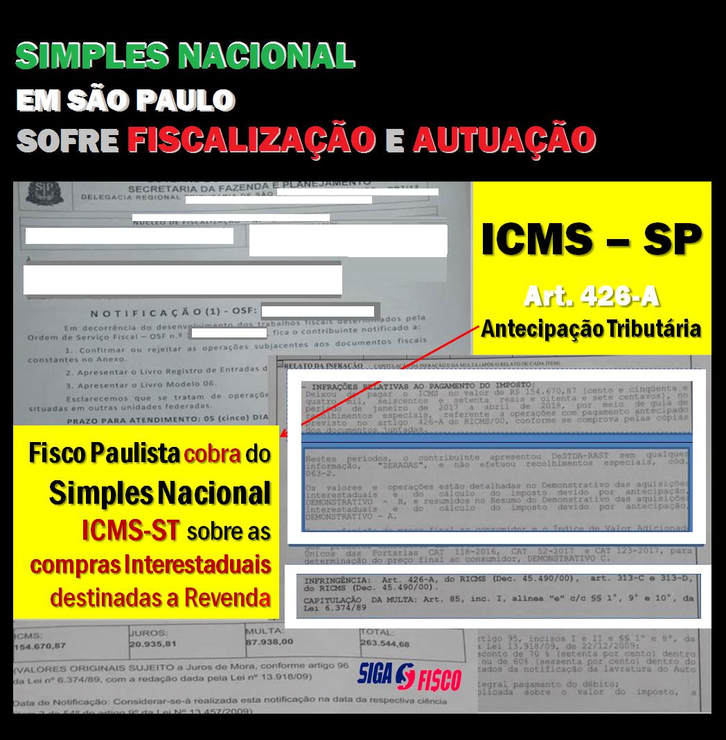 Simples Nacional sofre fiscalização e autuação por falta de recolhimento do ICMS Antecipação Tributária 2