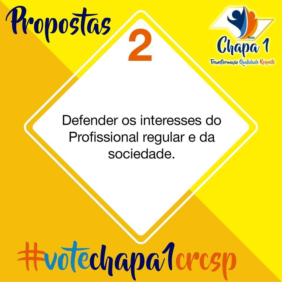 CRC SP – Eleições 2019, propostas da Chapa 1 3