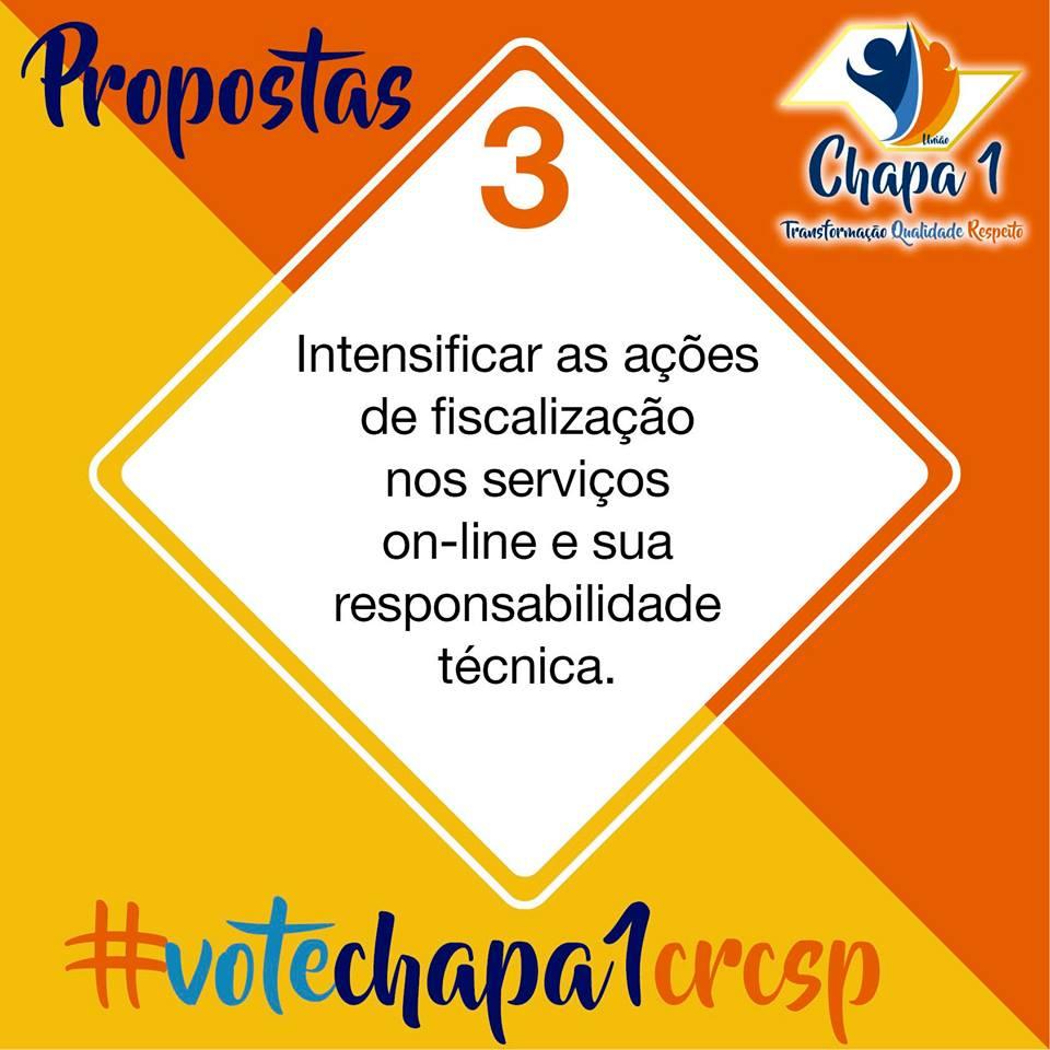 CRC SP – Eleições 2019, propostas da Chapa 1 4