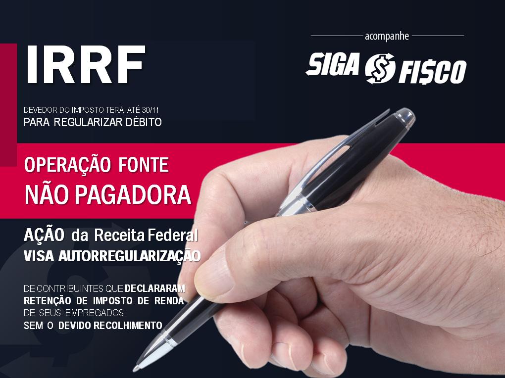 IRRF – Devedores devem regularizar débito até 30/11 1