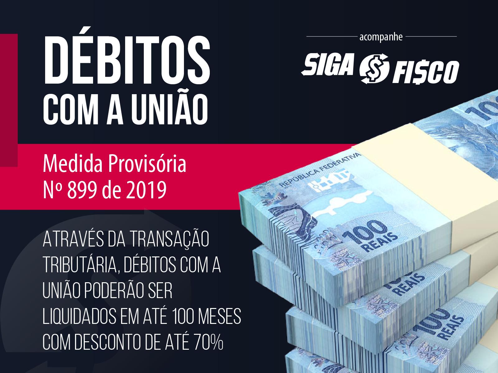 MP nº 899/2019 concede desconto para regularização de dívida com a União 1