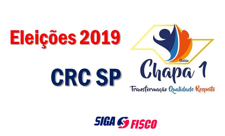 CRC SP – Eleições 2019, propostas da Chapa 1 1