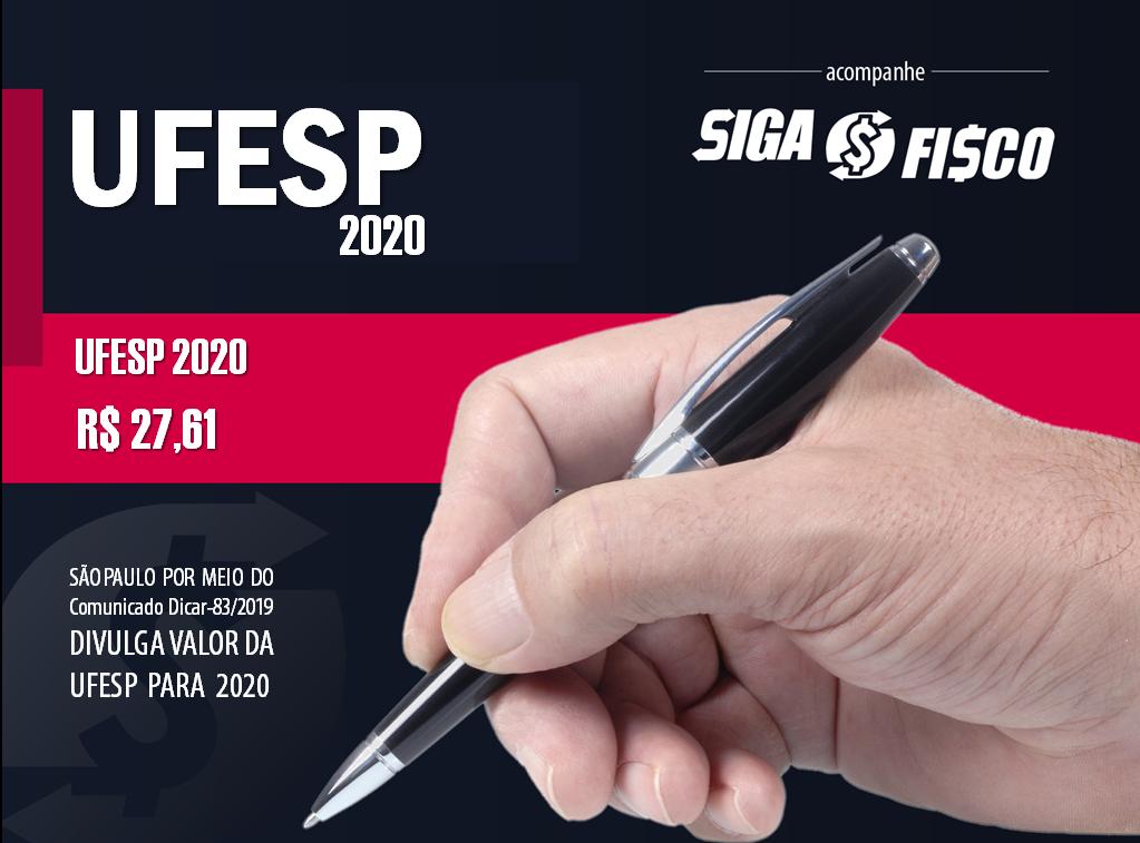 Governo paulista divulga UFESP para 2020 1