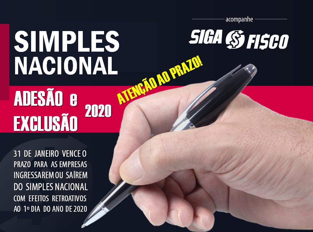 Simples Nacional 2020: Adesão ou Exclusão vence dia 31 de janeiro 1