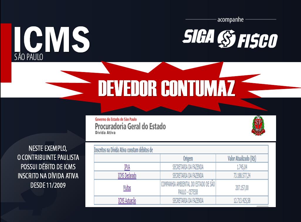 ICMS: Fisco paulista aperta o cerco contra Devedor Contumaz 2