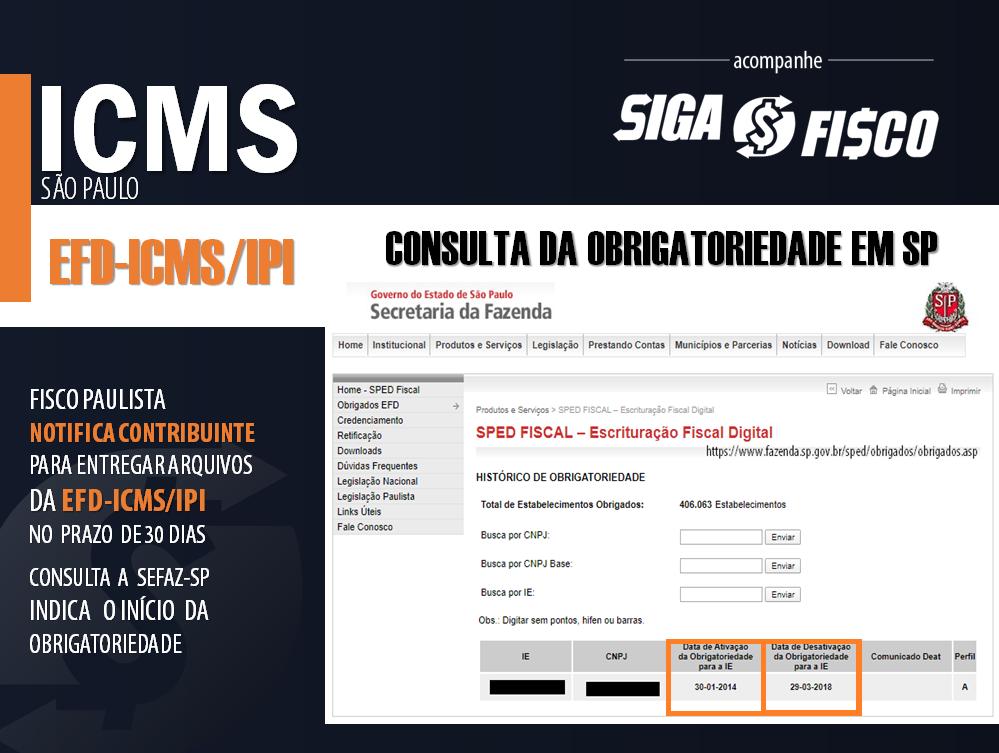 ICMS: Fisco paulista Notifica contribuinte para entregar arquivos da EFD 3