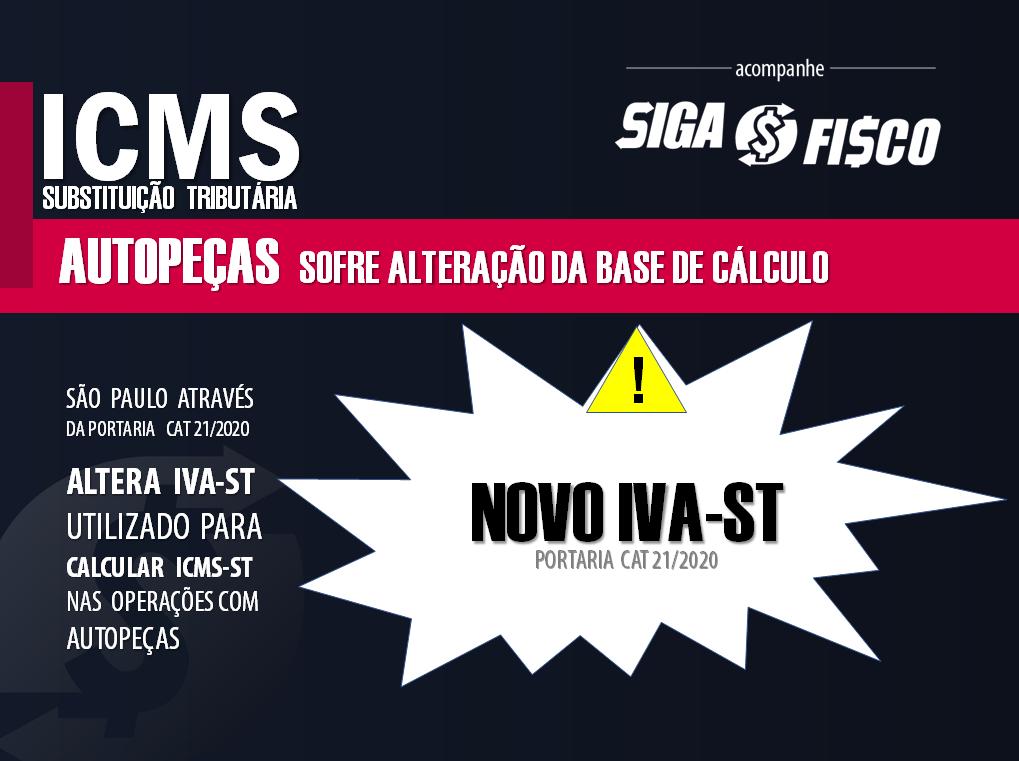 ICMS-ST sobre autopeças sofre alteração do IVA-ST em SP 1
