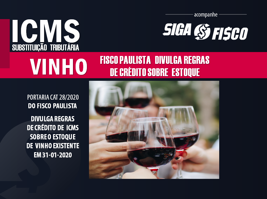 ICMS sobre estoque de vinho:  SP divulga regras de crédito 1
