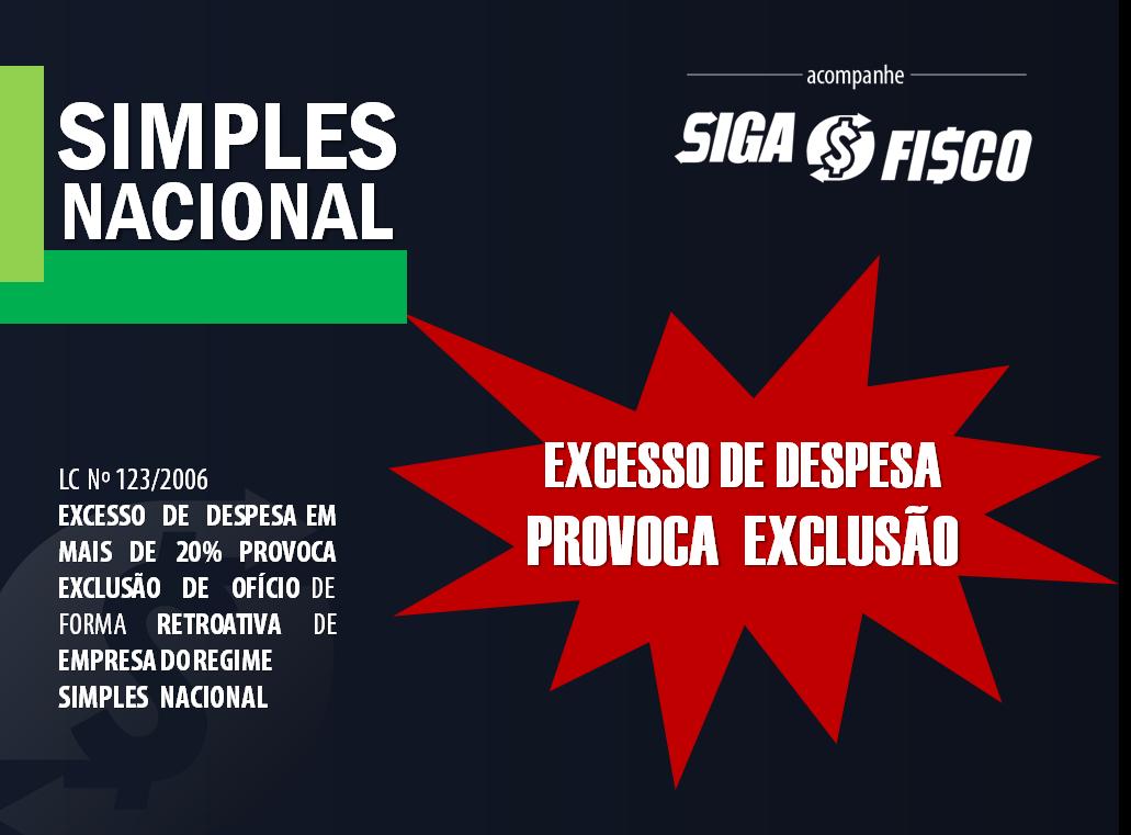 Simples Nacional: Excesso de despesa provoca EXCLUSÃO do regime 1