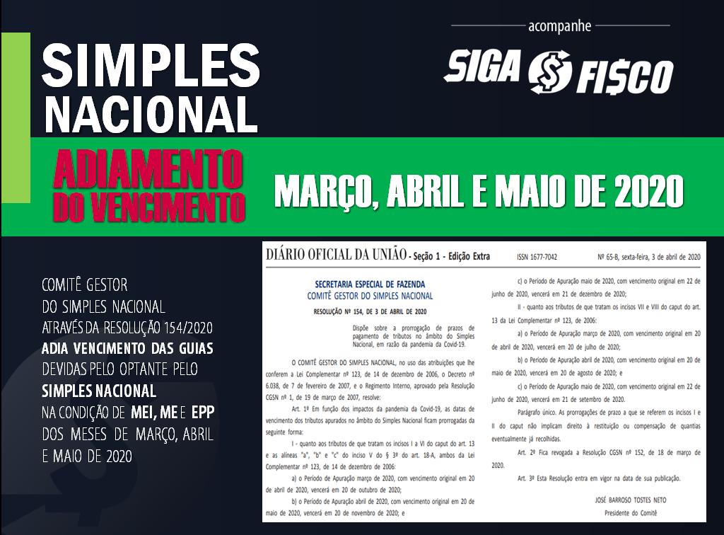 Simples Nacional: Governo adia vencimentos de março, abril e maio de 2020 1