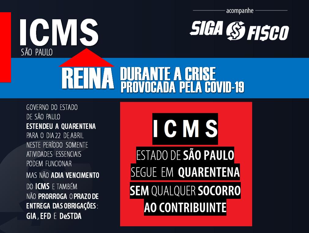 ICMS reina durante crise provocada pela pandemia do coronavírus 1