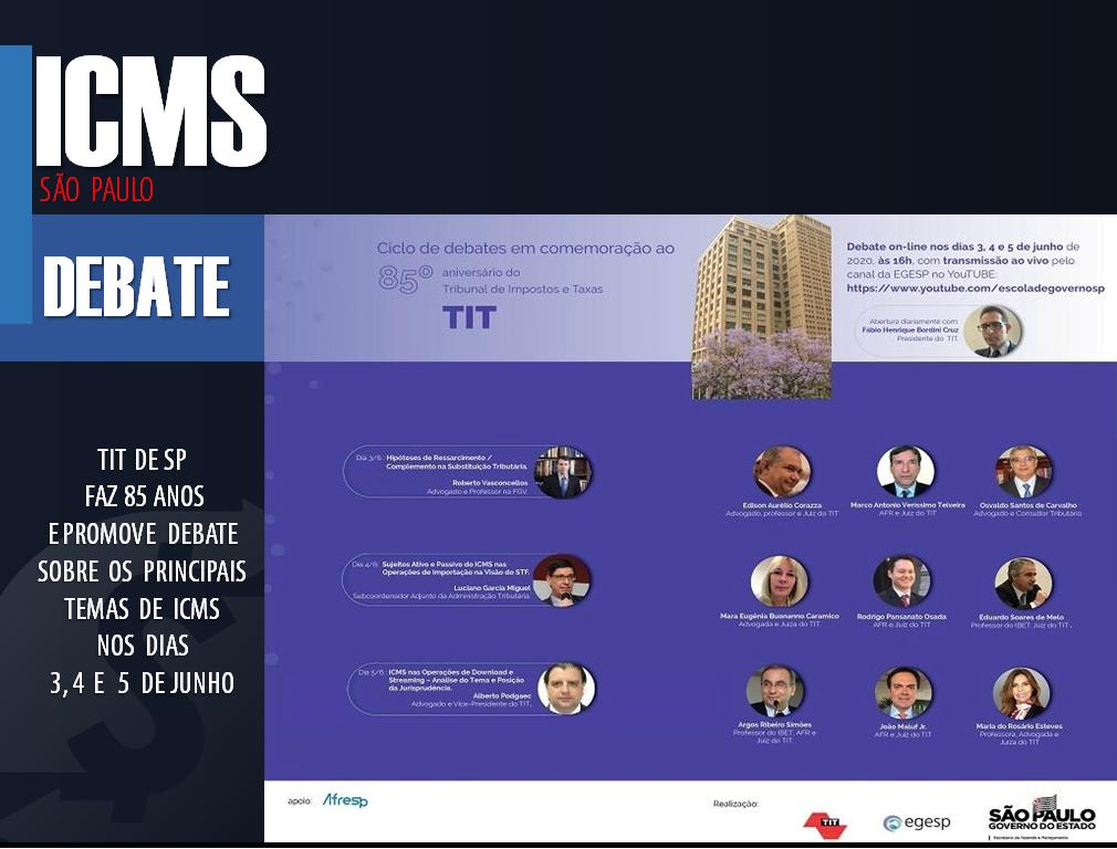 ICMS: TIT de SP vai comemorar 85 anos com debates ao vivo 1