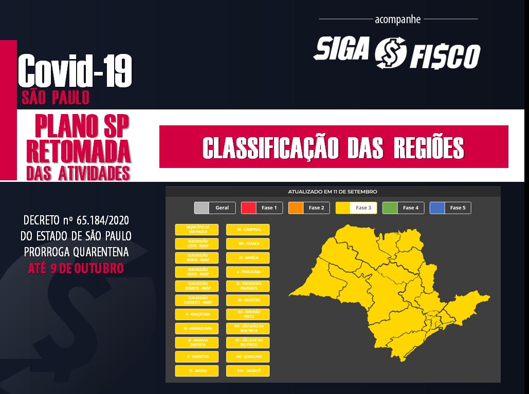 Covid-19: Estado de SP estende quarentena até 9 de outubro 2