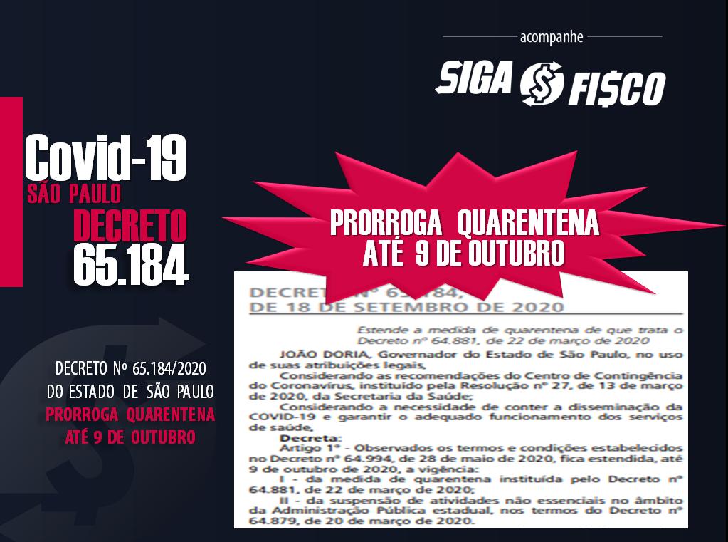 Covid-19: Estado de SP estende quarentena até 9 de outubro 1