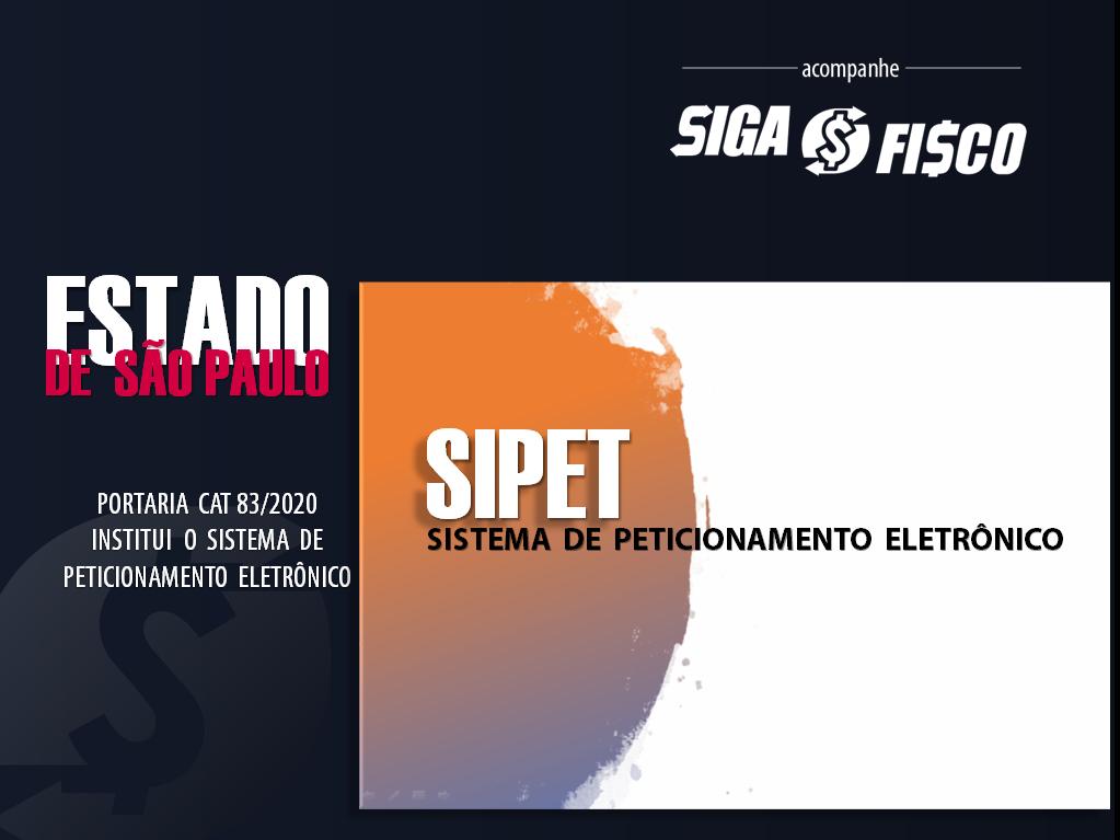 SP institui o Sistema de Peticionamento Eletrônico – SIPET 1