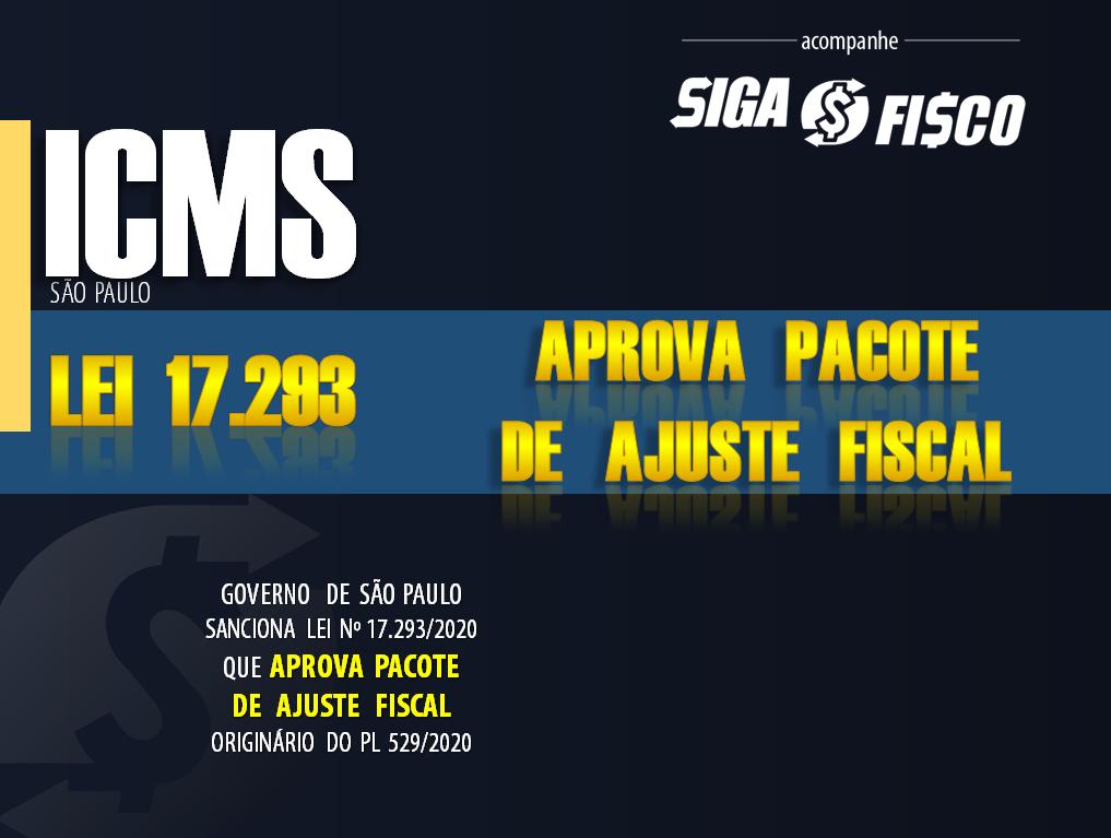 ICMS: Governo de SP publica Lei de Pacote de Ajuste Fiscal 1