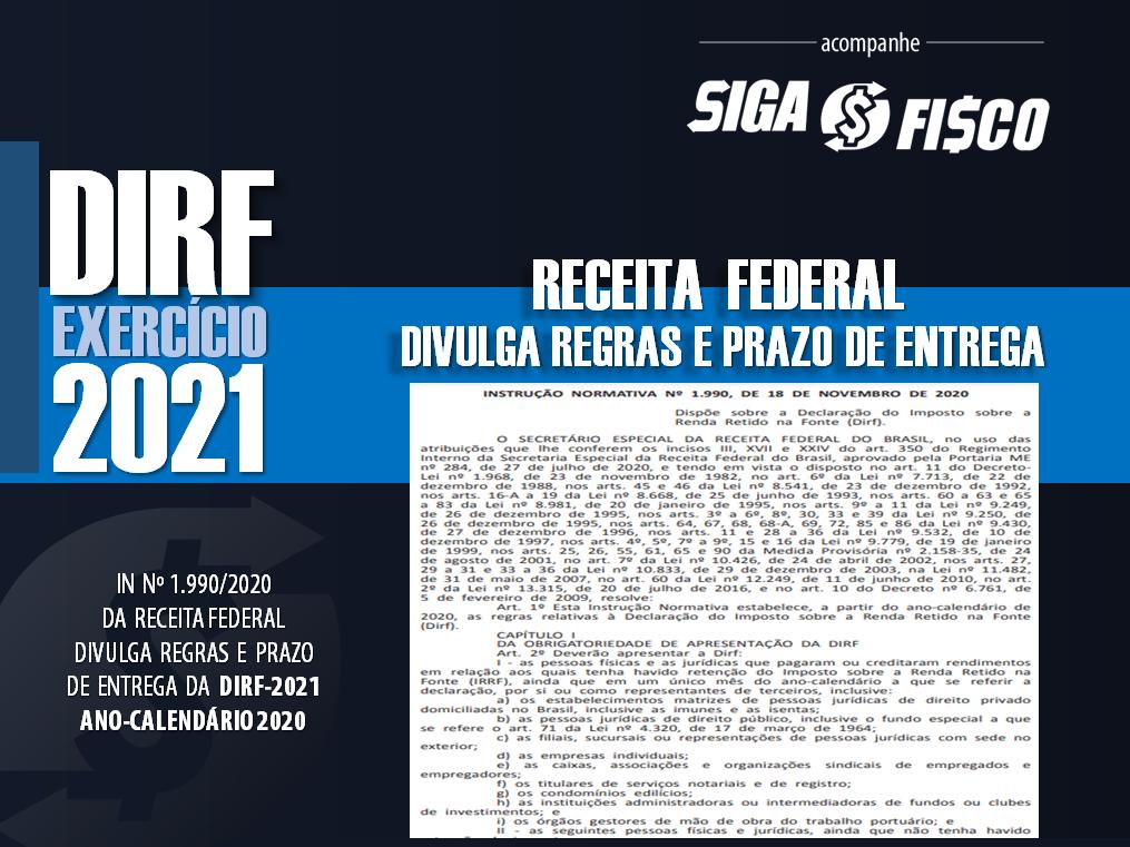 DIRF-2021: Receita Federal divulga regras 1