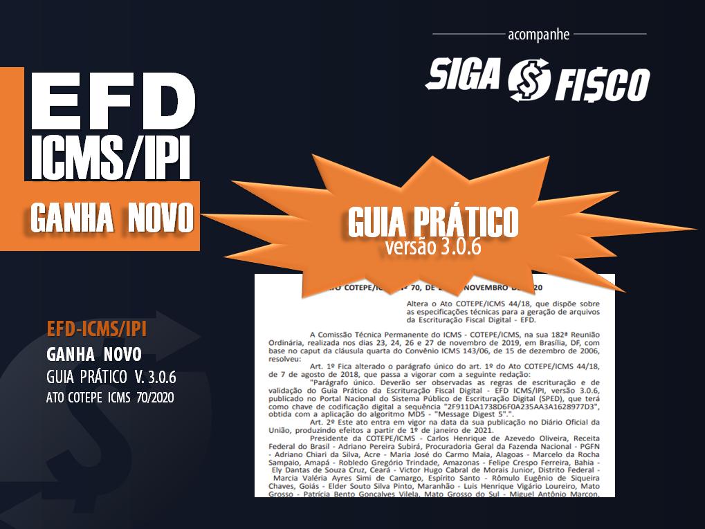 EFD-ICMS/IPI Ganha Guia Prático versão 3.06 1