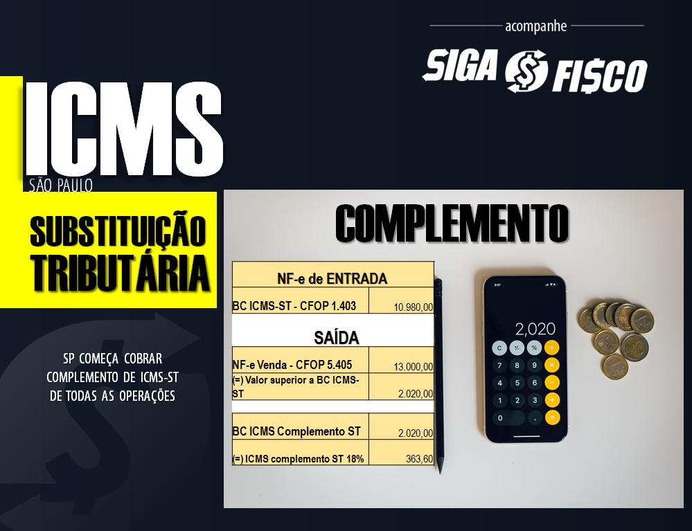 ICMS-ST – SP passa cobrar complemento de imposto do comércio 3